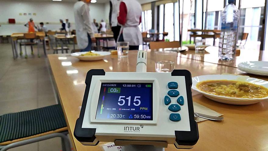 Intur instala sensores de medición de CO2 en sus comedores escolares para prevenir contagios por covid-19