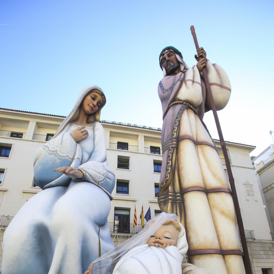 Así luce ya al completo el Belén gigante de Alicante