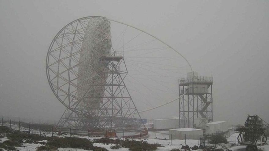 La borrasca deja nieve en Tenerife y La Palma