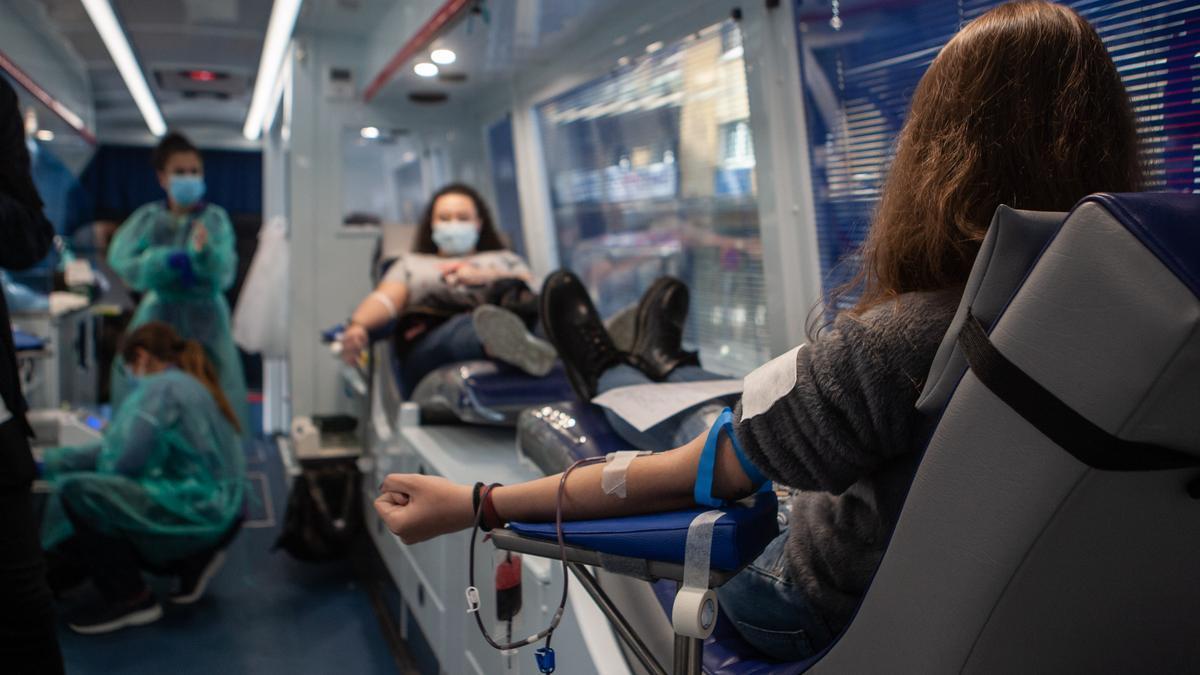 Campaña de Donantes de Sangre en una imagen de archivo.