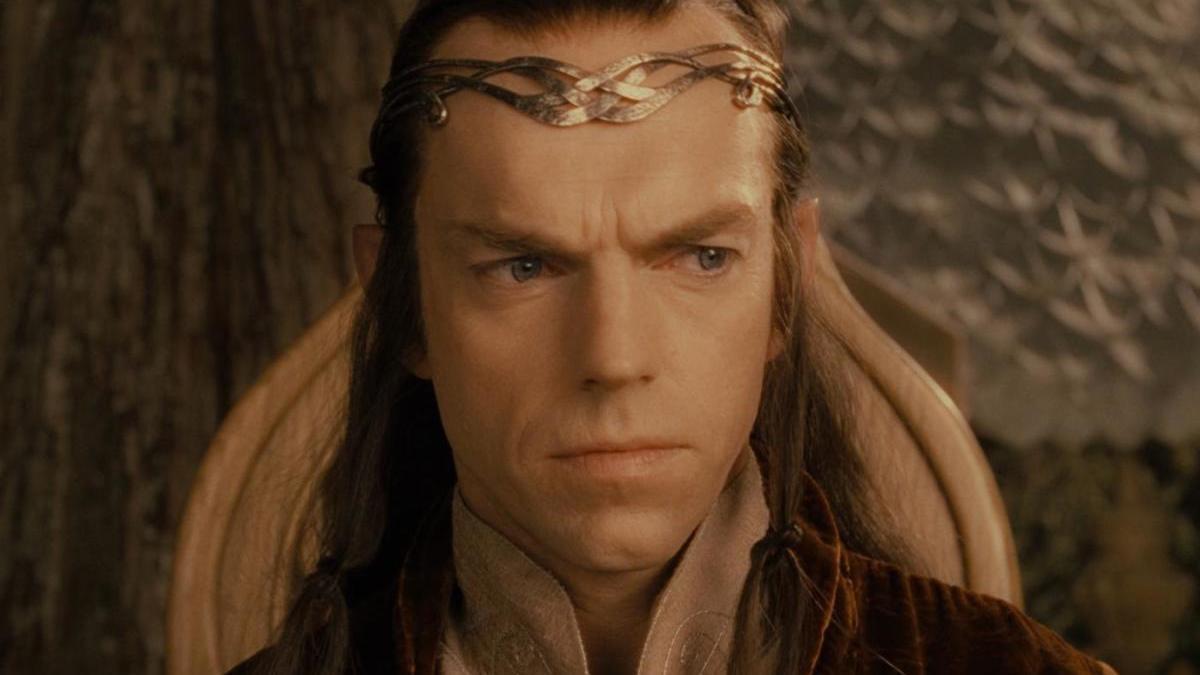 Hugo Weaving como el elfo Elrond.