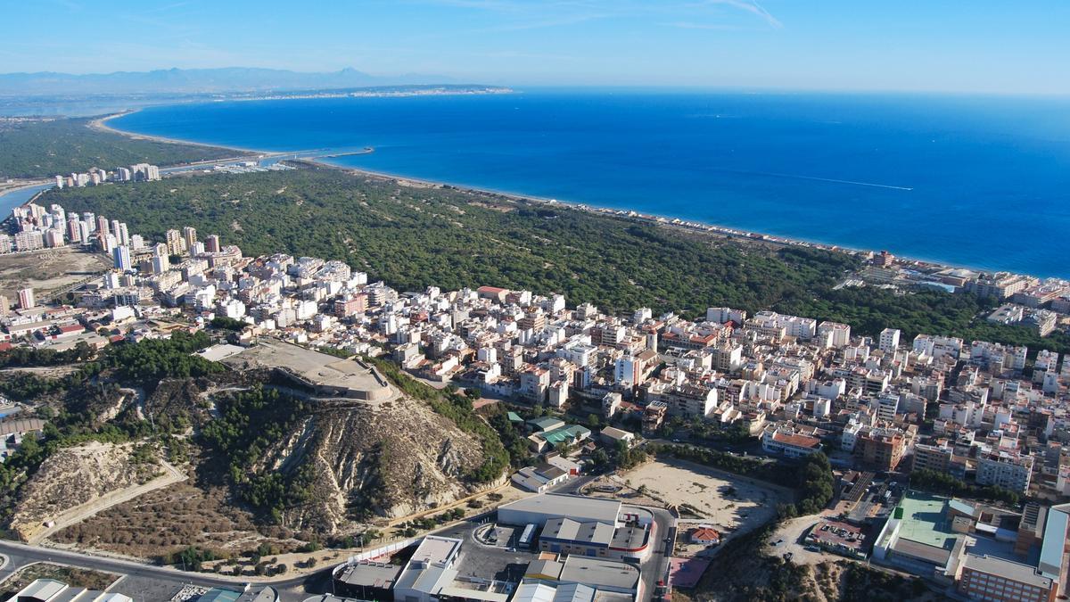 Vista aérea de Guardamar.