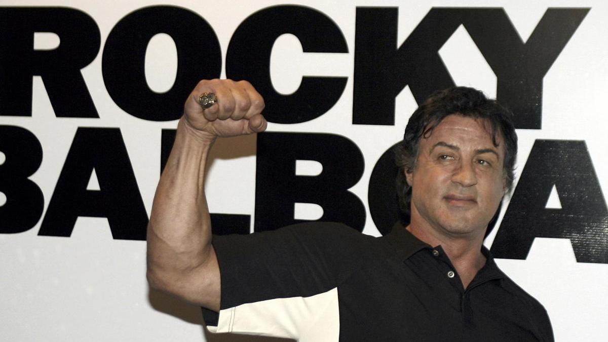 "Sylvester Stallone en la promoción de la cinta ""Rocky Balboa"""