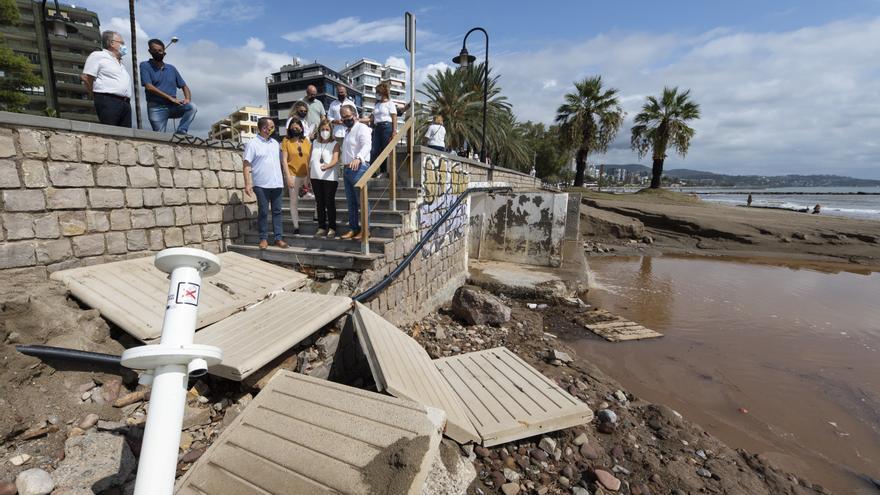 Benicàssim intenta recuperar la normalidad tras los innumerables daños que ha dejado la fuerte riada
