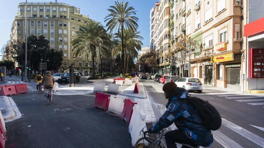 València en Bici defiende los nuevos carriles para ciclistas en la ciudad