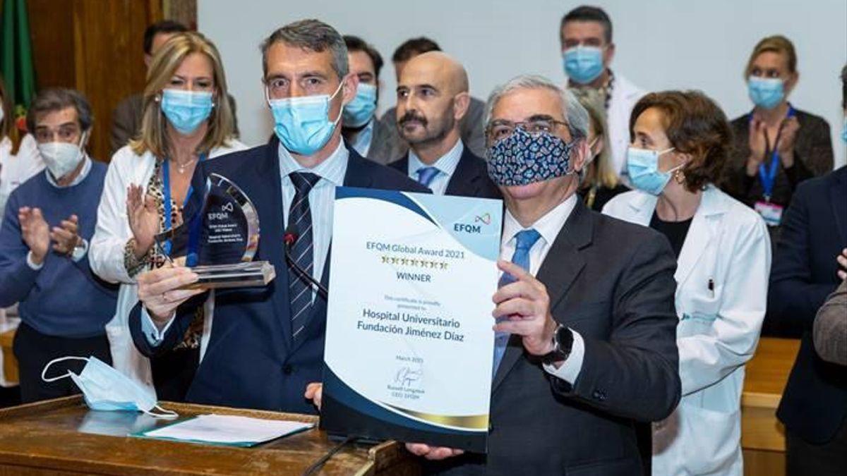 La Fundación Jiménez Díaz, primer hospital del mundo en recibir el EFQM Global Award