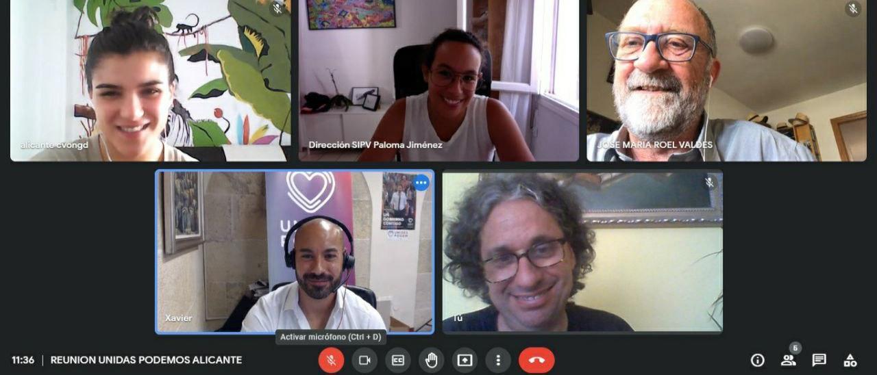 Reunión online de Unides Podem con representantes de la Coordinadora de Ongs de la Comunidad Valenciana,