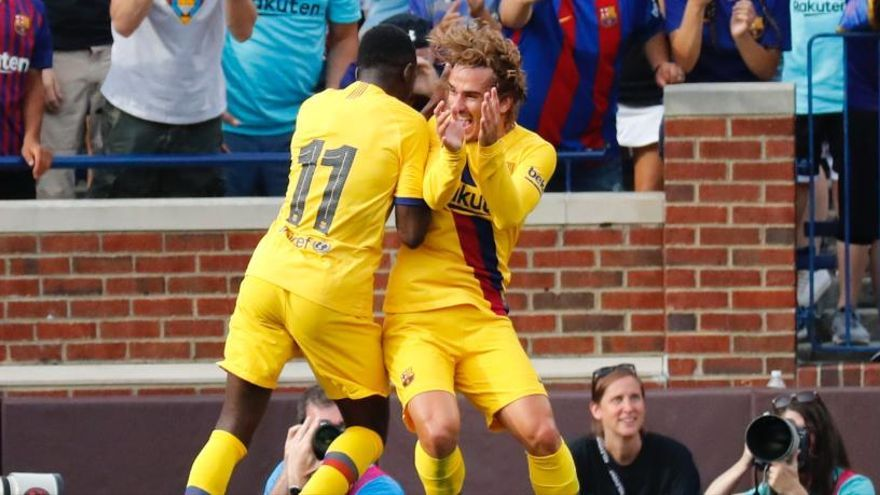 Griezmann, Suárez i Dembélé s'endollen a Michigan amb un 4-0 del Barça al Nàpols