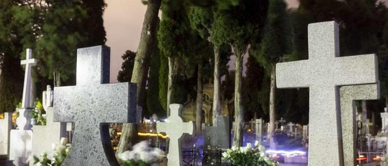 Imagen de un cementerio gallego. // R. G.