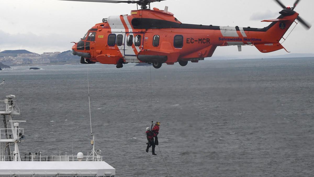 El helicóptero Helimer de Salvamento Marítimo.