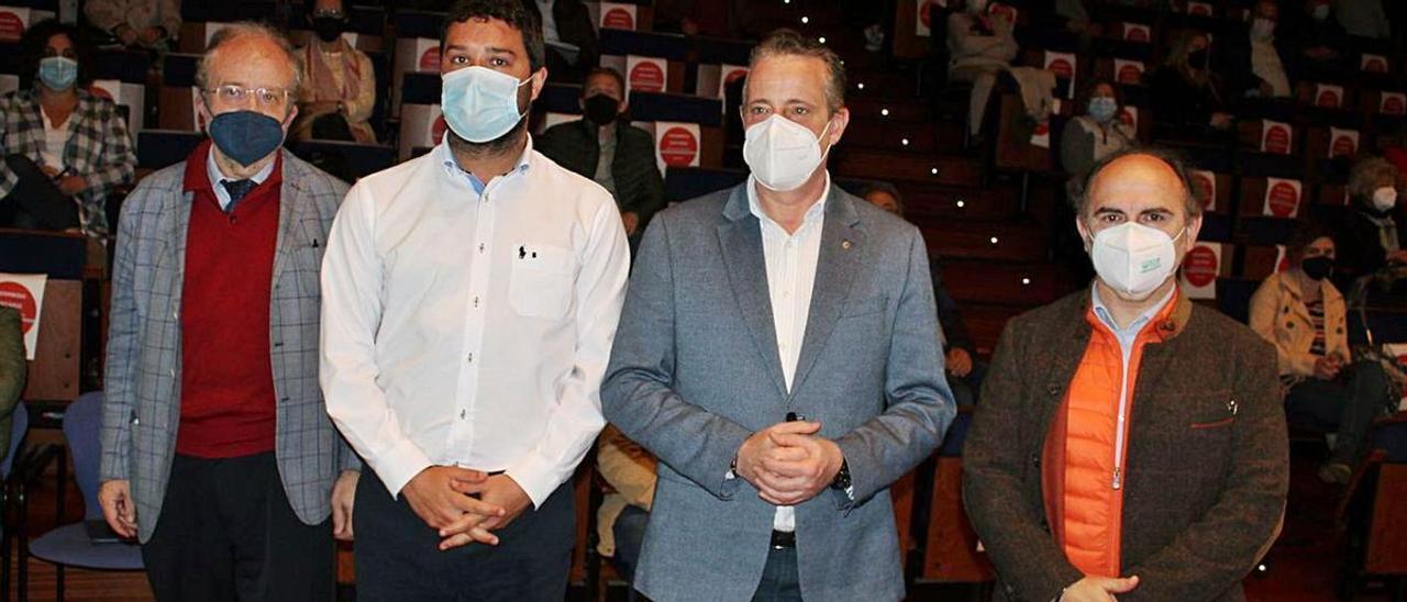 Leopoldo Tolivar, Óscar Pérez, Marcelino Marcos Líndez e Ignacio Villaverde. | T. Cascudo