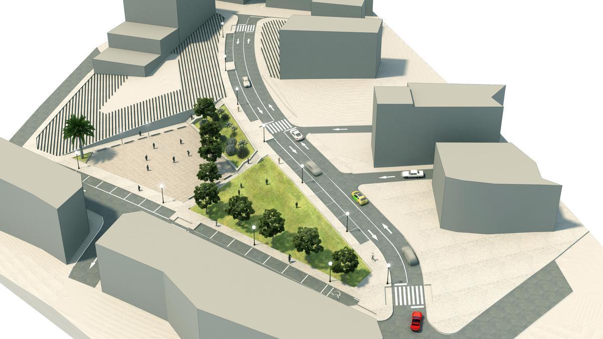 Plano del proyecto de urbanización de la Unidad de Actuación 8.