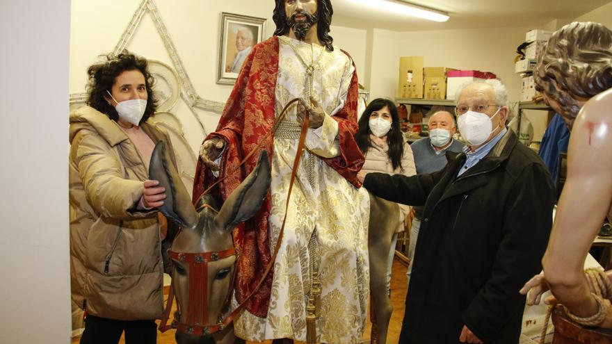 Semana Santa en Gijón: las borriquillas quedan bajo llave