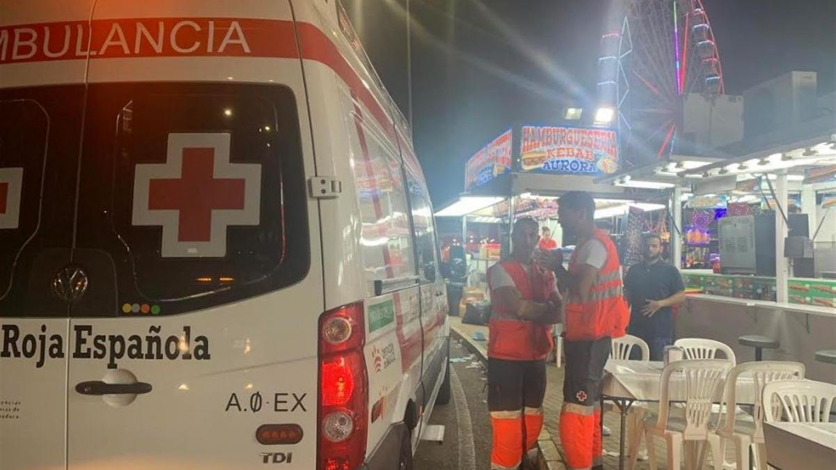 Herido un trabajador de una atracción de la feria de Badajoz por una descarga eléctrica