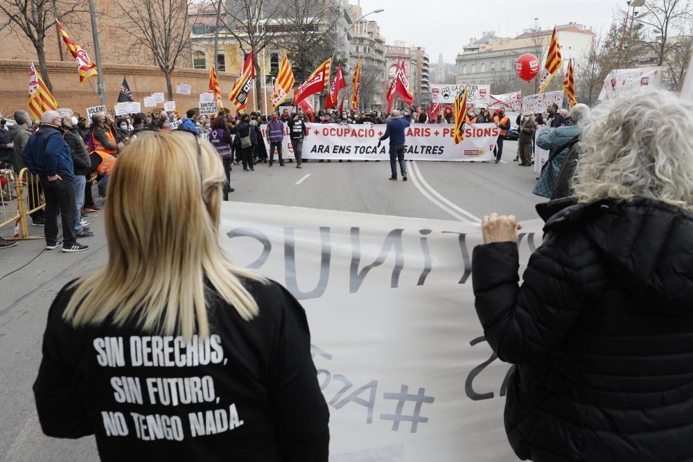 Mobilització dels sindicats a Girona