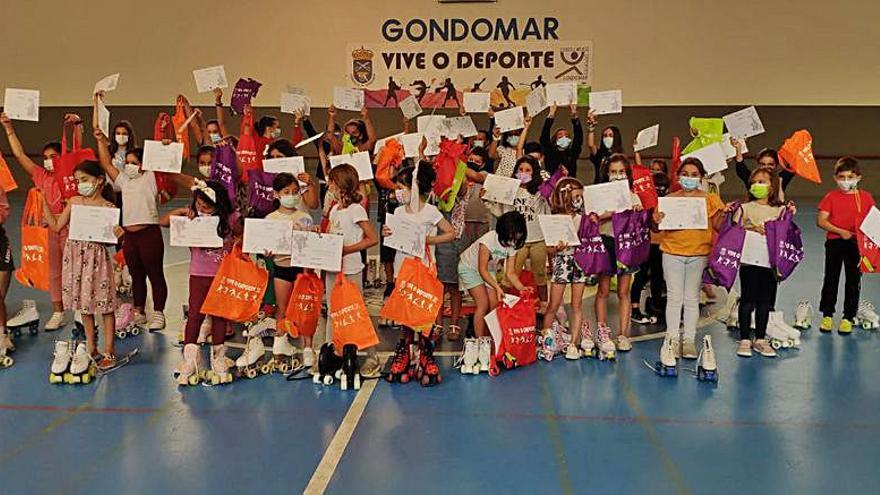 Máis de 150 rapaces participaron das escolas deportivas en Gondomar