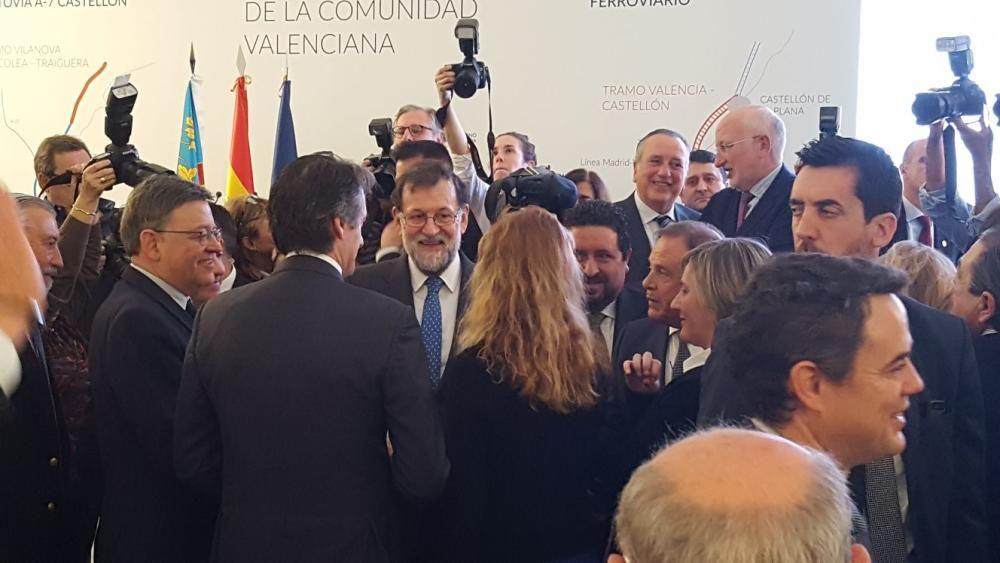 Llegada del AVE inaugural entre Madrid y Castelló.