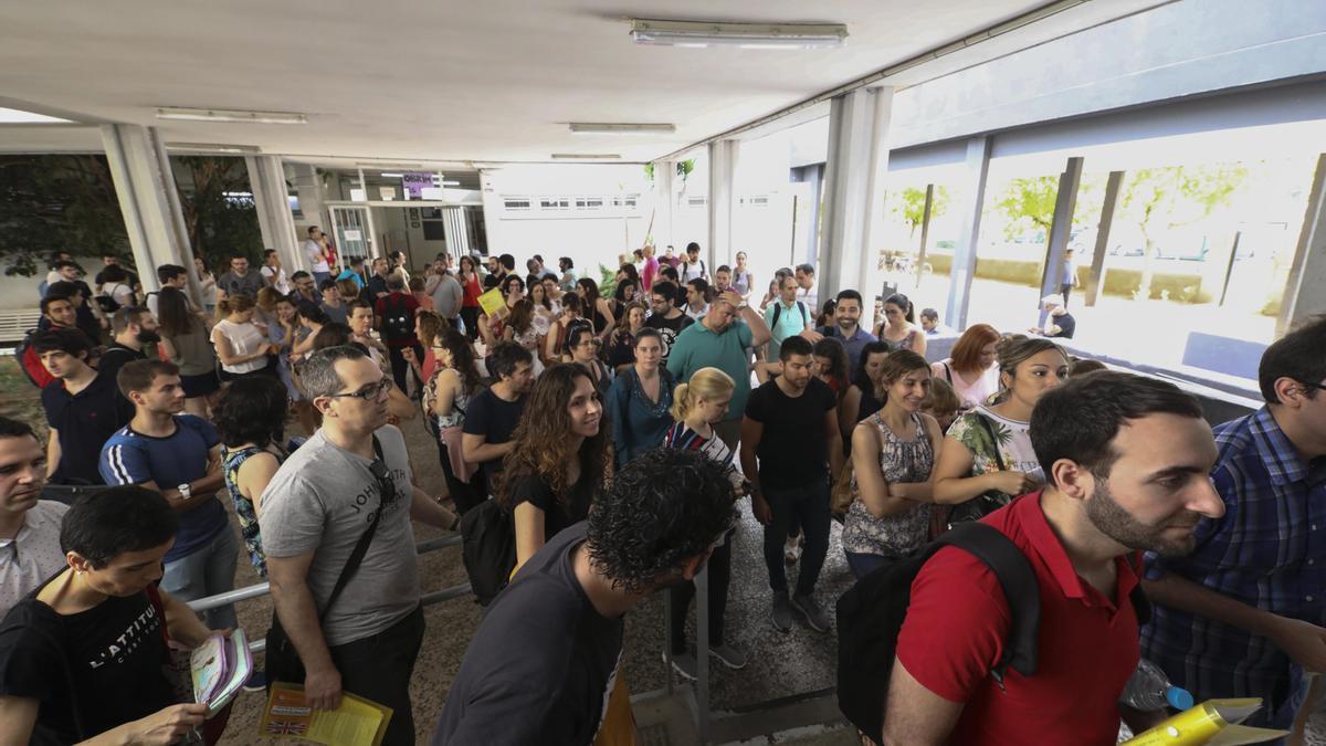 Imagen de archivo de las oposiciones docentes de 2019.
