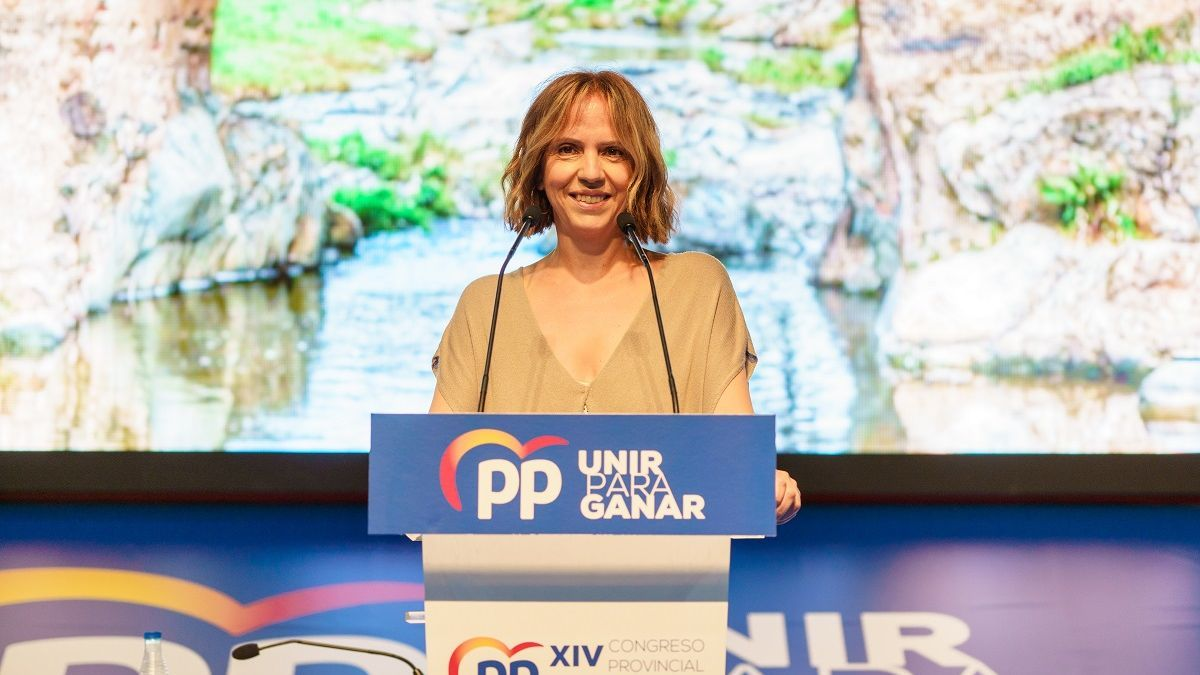 María José Calderón, portavoz del PP de la provincia de Badajoz.