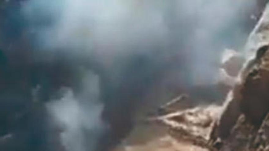 El incendio de Inagua se acerca a la extinción tras dos días sin emitir humo