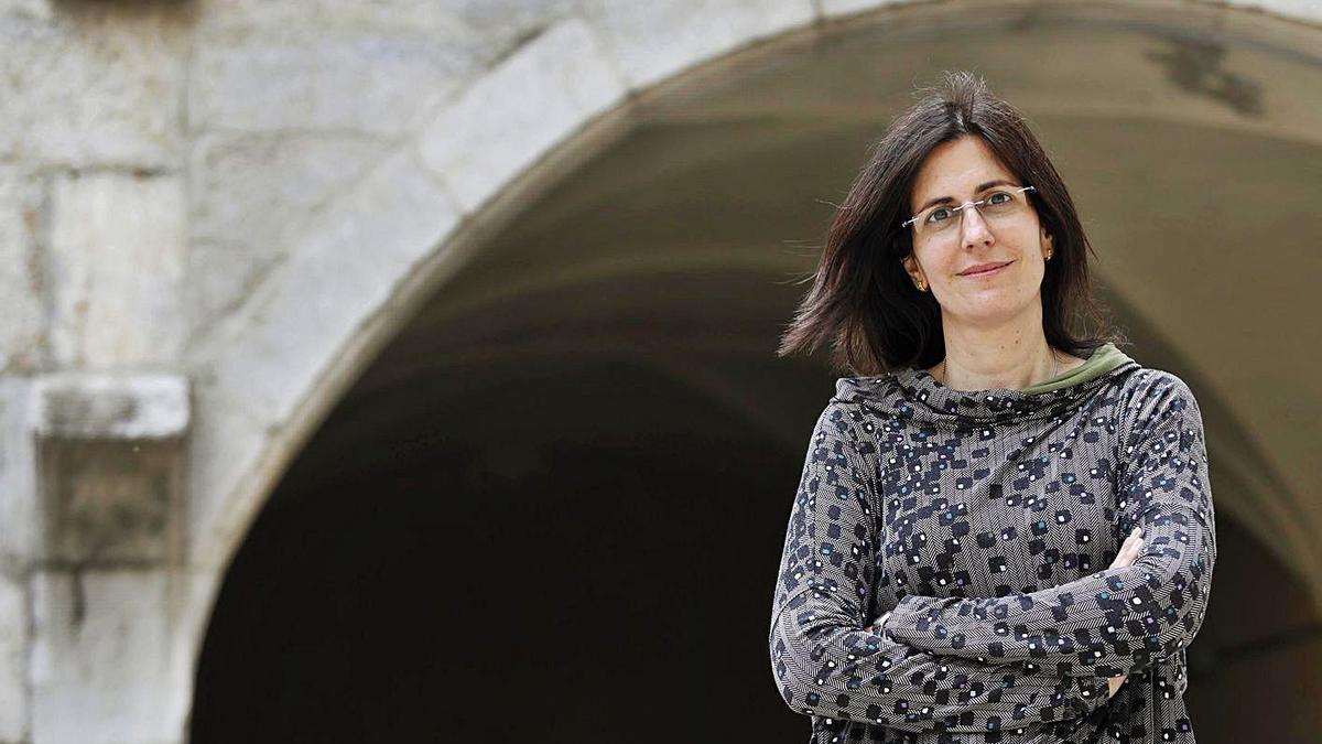 Patrícia Melgar, a la Facultat d'Educació i Psicologia de la UdG.   ANIOL RESCLOSA