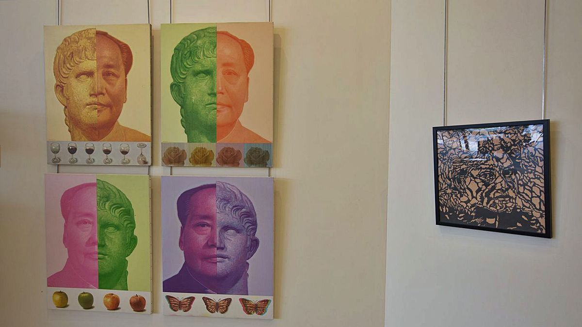 Obras de la serie 'D'Ombres i llums', creada entre 2018 y 2020.  |  VICENT MARÍ