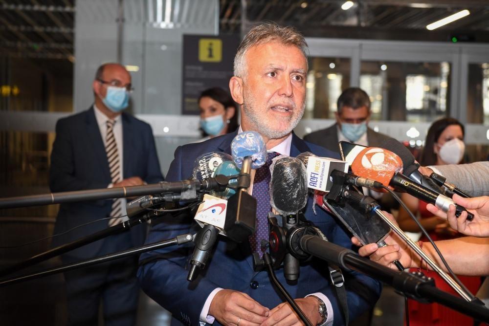 Vuelo de la comitiva de la OMT a Canarias