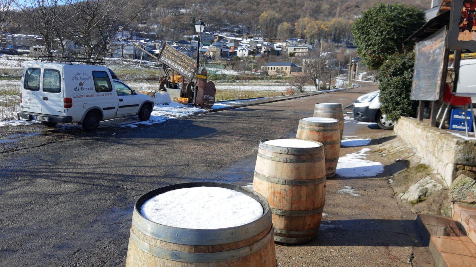 Nieve en Sanabria: el blanco vuelve a las montañas