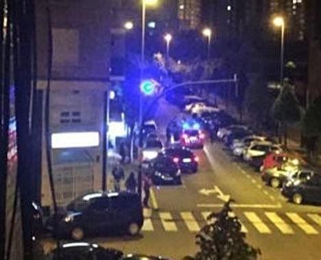 La intervención policial en la calle Valencia.