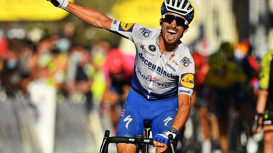 Doble premi    per a Alaphilippe a Niça: victòria   a l'etapa i nou líder del Tour