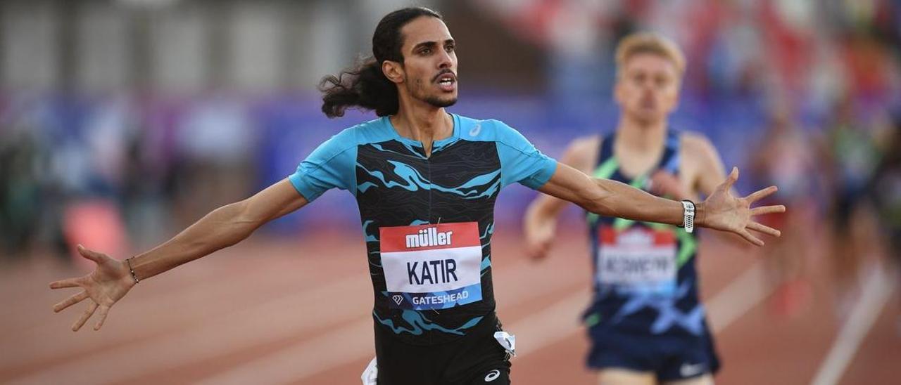 Katir, en su última carrera de 3.000 en Gateshead