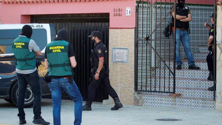 Golpe en Málaga contra una banda especializada  en vuelcos de droga