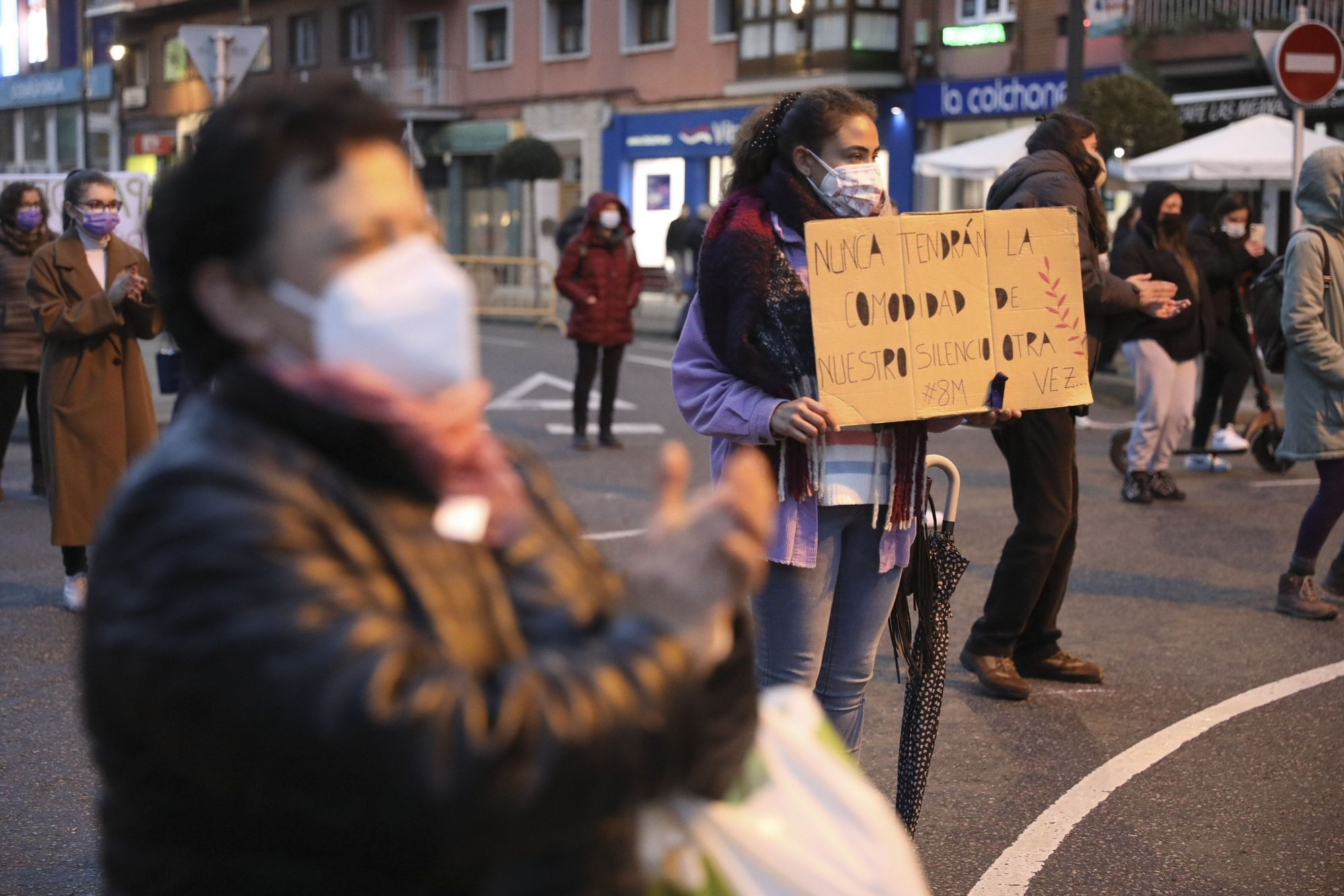 Manifestación del 8M en Avilés