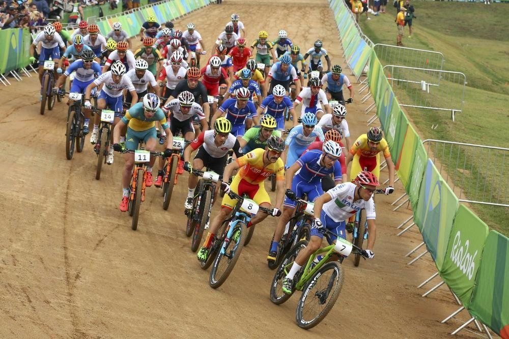Imagen de la final de Mountain bike.