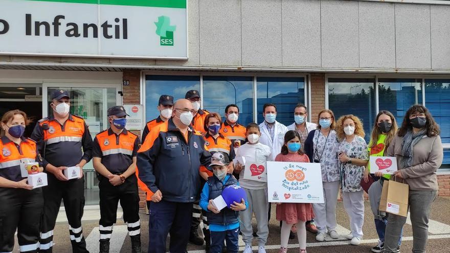 Admo y Protección Civil celebran en Badajoz el Día del Niño Hospitalizado