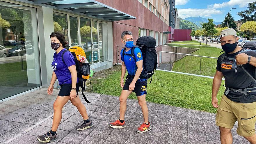 El Camino de vuelta al campus de Mieres