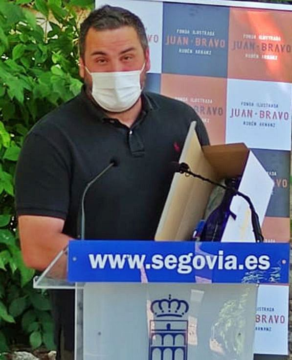 Jorge Iglesias, ayer, durante la entrega de premios en Segovia