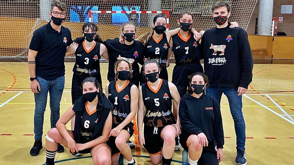 L'equip júnior femení del Club Bàsquet Castelló.