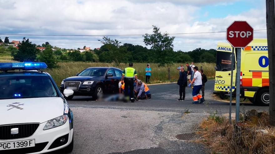 Muere un motorista tras chocar contra un coche en Ourense