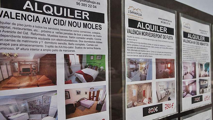 La oferta de pisos de alquiler se dobla en València desde marzo