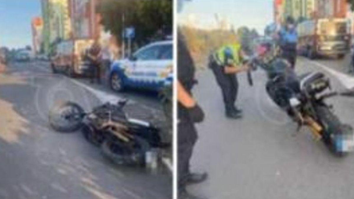 Imagen del suceso en el que resultó atropellado el menor, este jueves en Gran Canaria.
