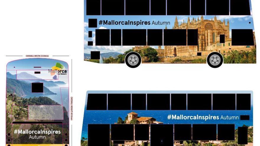 Mallorca-Motive schmücken Doppeldecker-Bus in London