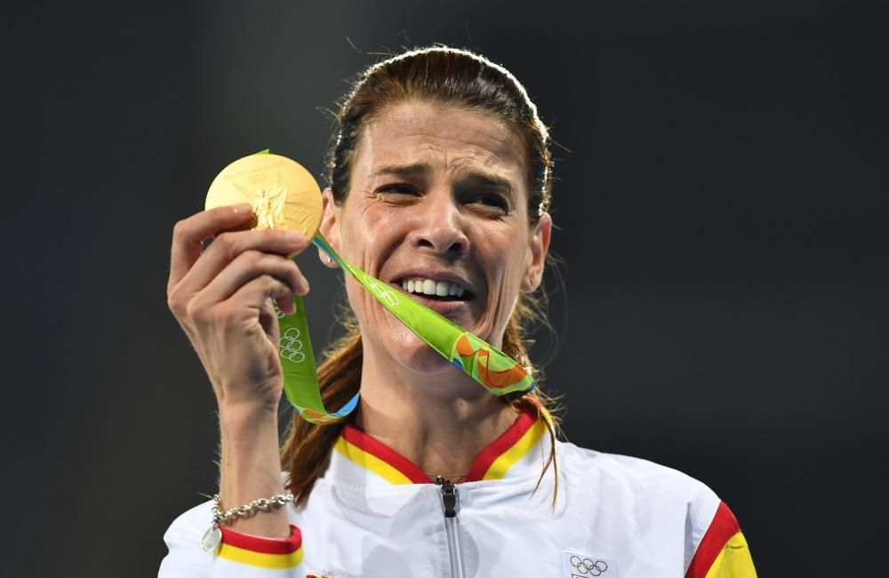La saltadora de altura Ruth Beitia ganó el oro en Río.