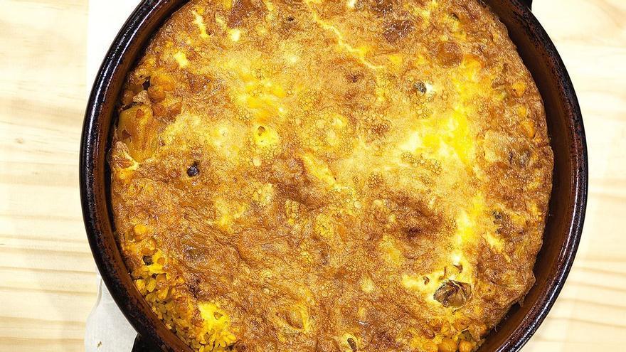 """El tradicional arroz con """"costra"""", la joya de la gastronomía de Pego"""