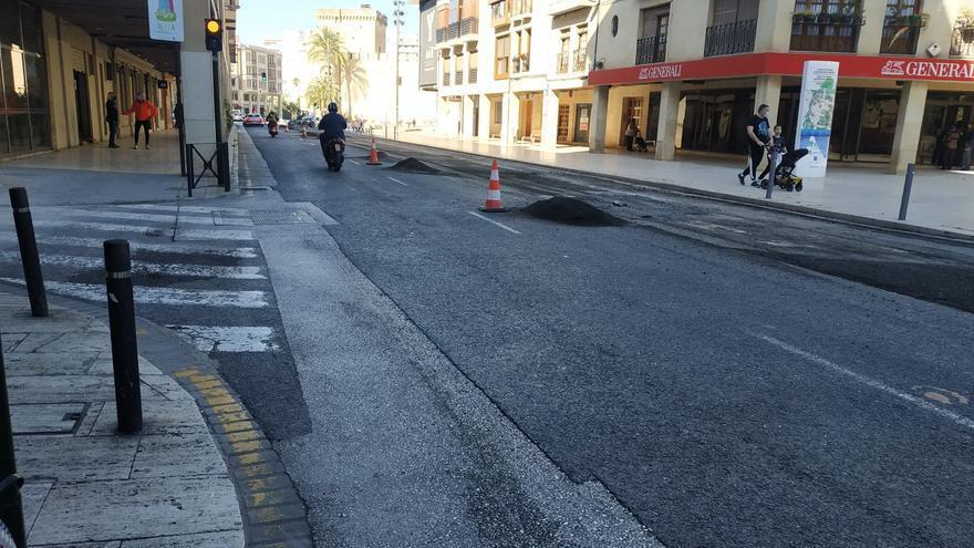 Una semana de restricciones de tráfico en el centro de Elche
