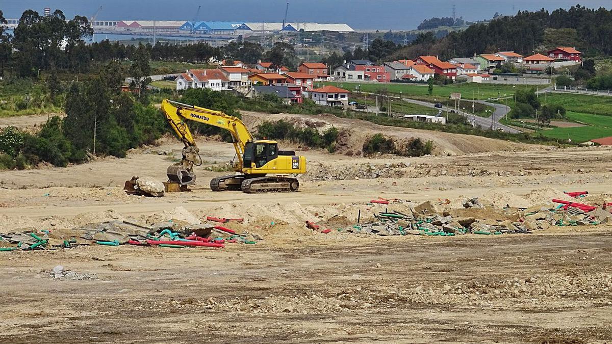 Vista de los terrenos de Hijos de Rivera, propietaria de Estrella Galicia, en Morás. |   // LA OPINIÓN