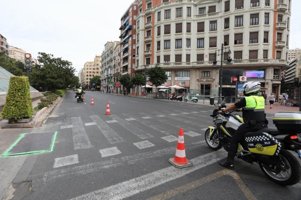 Obras del carril-bici de la Gran Vía Fernando el Católico