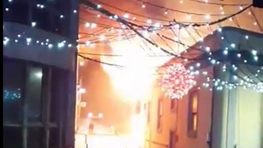 Extinguen un incendio en un local de El Hierro en Nochevieja