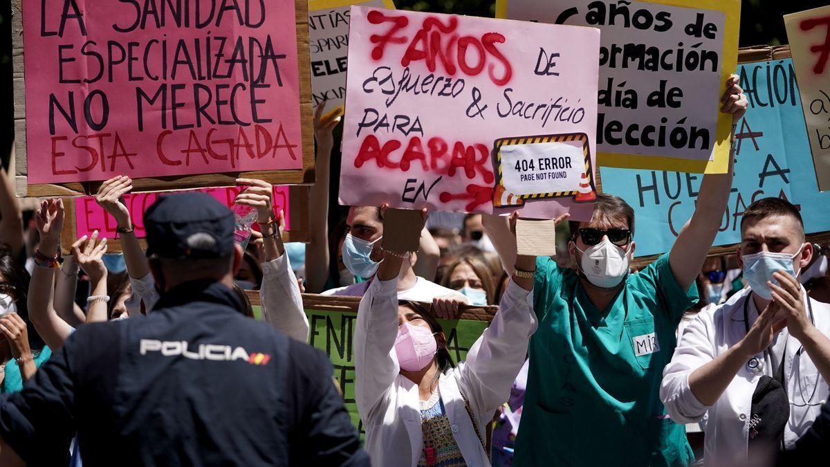Protestas de los MIR en Madrid.
