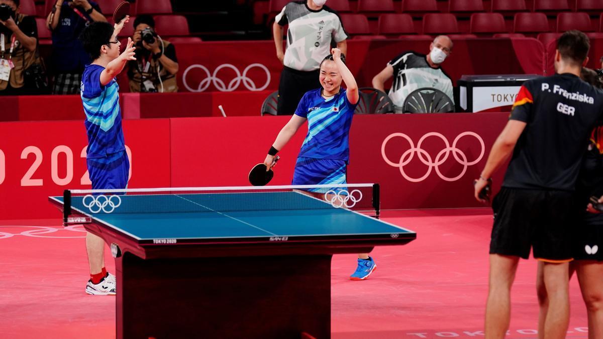 La competición de tenis de mesa es una de las más seguidas en Tokio.